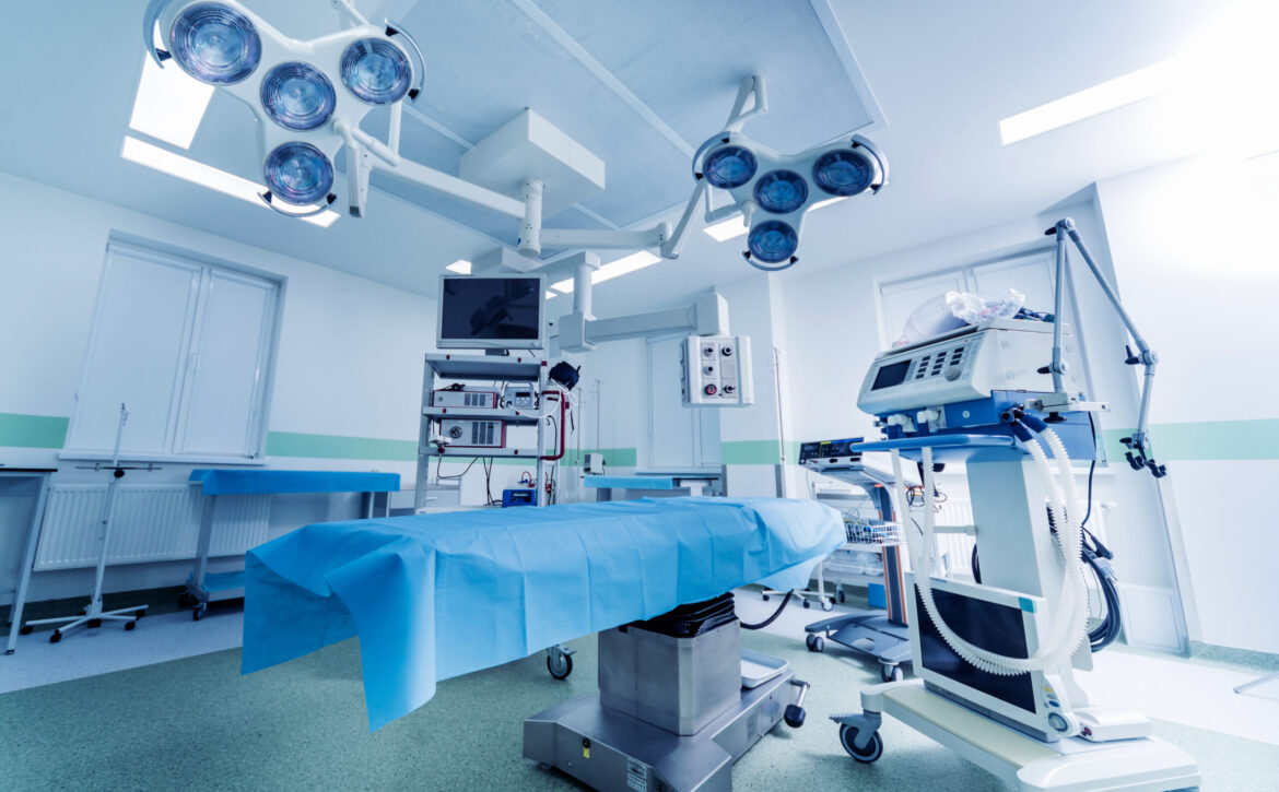Modern,Equipment,In,Operating,Room.,Medical,Devices,For,Neurosurgery.,Background